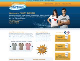 tshirtexpress.com screenshot