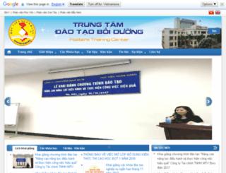 ttdt.hvnh.edu.vn screenshot