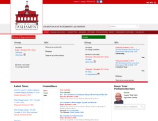 ttparliament.org screenshot