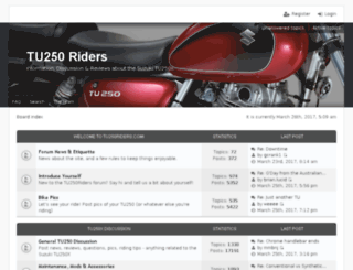 tu250riders.com screenshot