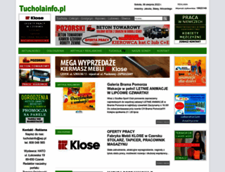 tucholainfo.pl screenshot