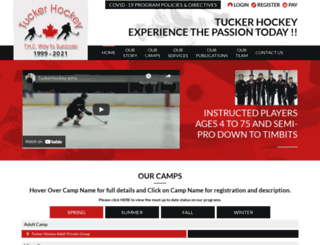 tuckerhockey.com screenshot