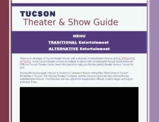 tucsonentertainment.info screenshot