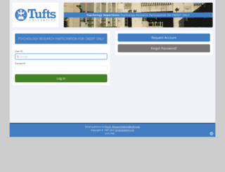 tufts.sona-systems.com screenshot