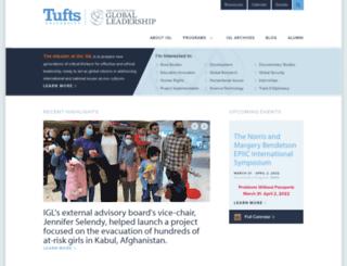 tuftsgloballeadership.org screenshot