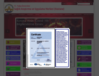 tuh.trakya.edu.tr screenshot