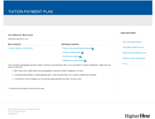 tuitionpay.higherone.com screenshot