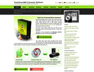 tuneclone.com screenshot