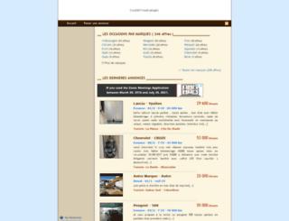 tunisie-autos.com screenshot