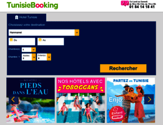 tunisiebooking.com screenshot