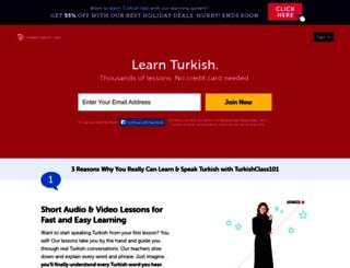turkishclass101.com screenshot