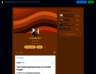 turnidoff.tumblr.com screenshot