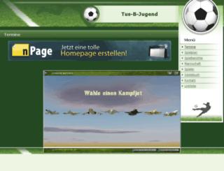 tus-b-jugend.npage.de screenshot
