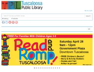 tuscaloosa-library.org screenshot