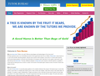 tutorbureau.com screenshot