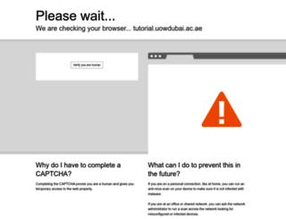 tutorial.uowdubai.ac.ae screenshot