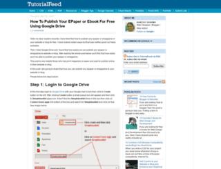 tutorialfeed.blogspot.com screenshot