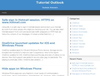 tutorialoutlook.com screenshot