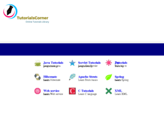 tutorialscorner.com screenshot