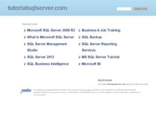 tutorialsqlserver.com screenshot