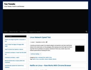 tuxtweaks.com screenshot