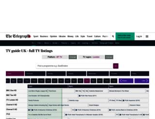 tvguideuk.telegraph.co.uk screenshot
