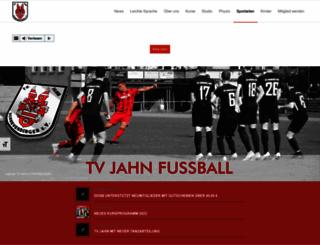 tvjahn-fussball.de screenshot