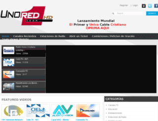 tvportal.unored.com screenshot