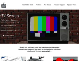 tvrename.com screenshot