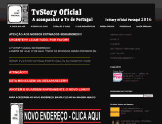 tvstoryoficialportugal2016.blogspot.be screenshot