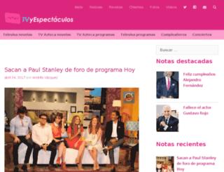 tvyespectaculos.com screenshot