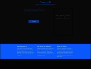 tweeterid.com screenshot