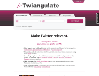 twiangulate.com screenshot