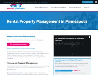 twincities.renterswarehouse.com screenshot