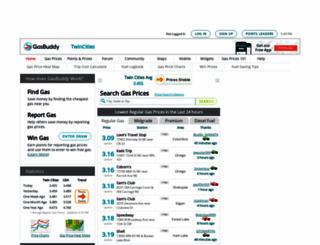 twincitiesgasprices.com screenshot