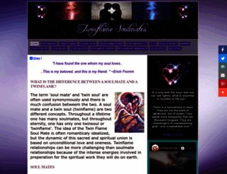 twinflamesoulmates.com screenshot