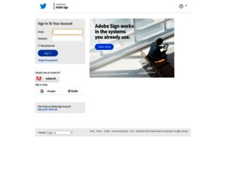 twitter.echosign.com screenshot
