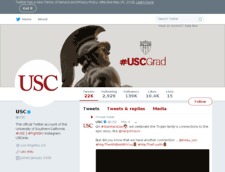 twitter.usc.edu screenshot