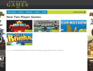twoplayergames.biz screenshot