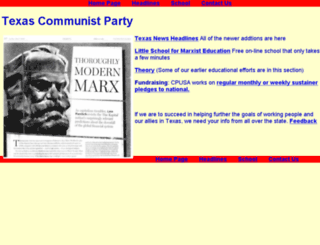 tx.cpusa.org screenshot