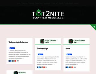 txt2nite.com screenshot