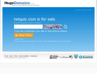 txtquiz.com screenshot
