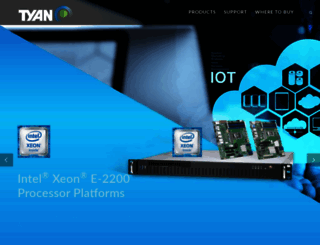 tyan.com screenshot