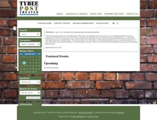 tybeeposttheater.showare.com screenshot