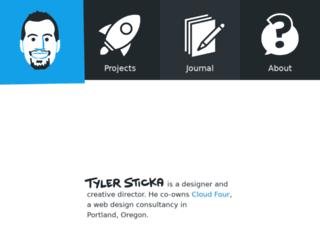 tylersticka.com screenshot