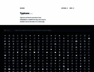 typicons.com screenshot