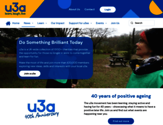 u3a.org.uk screenshot