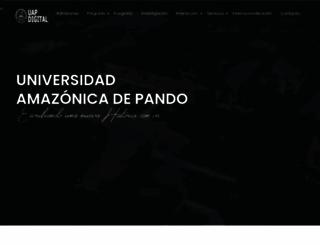 uap.edu.bo screenshot
