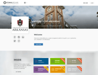 uark.optimalresume.com screenshot