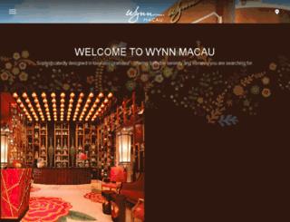 uat.wynnmacau.com screenshot